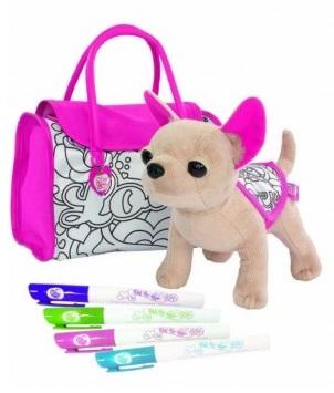 Чихуахуа плюшевая собачка 20 см, 4 перманентных маркераChi Chi Love - cобачки в сумочке<br>Чихуахуа плюшевая собачка 20 см, 4 перманентных маркера<br>