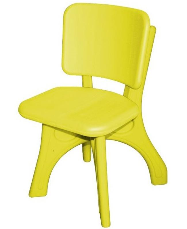 Купить Детский пластиковый стул – Дейзи, желтый, King Kids