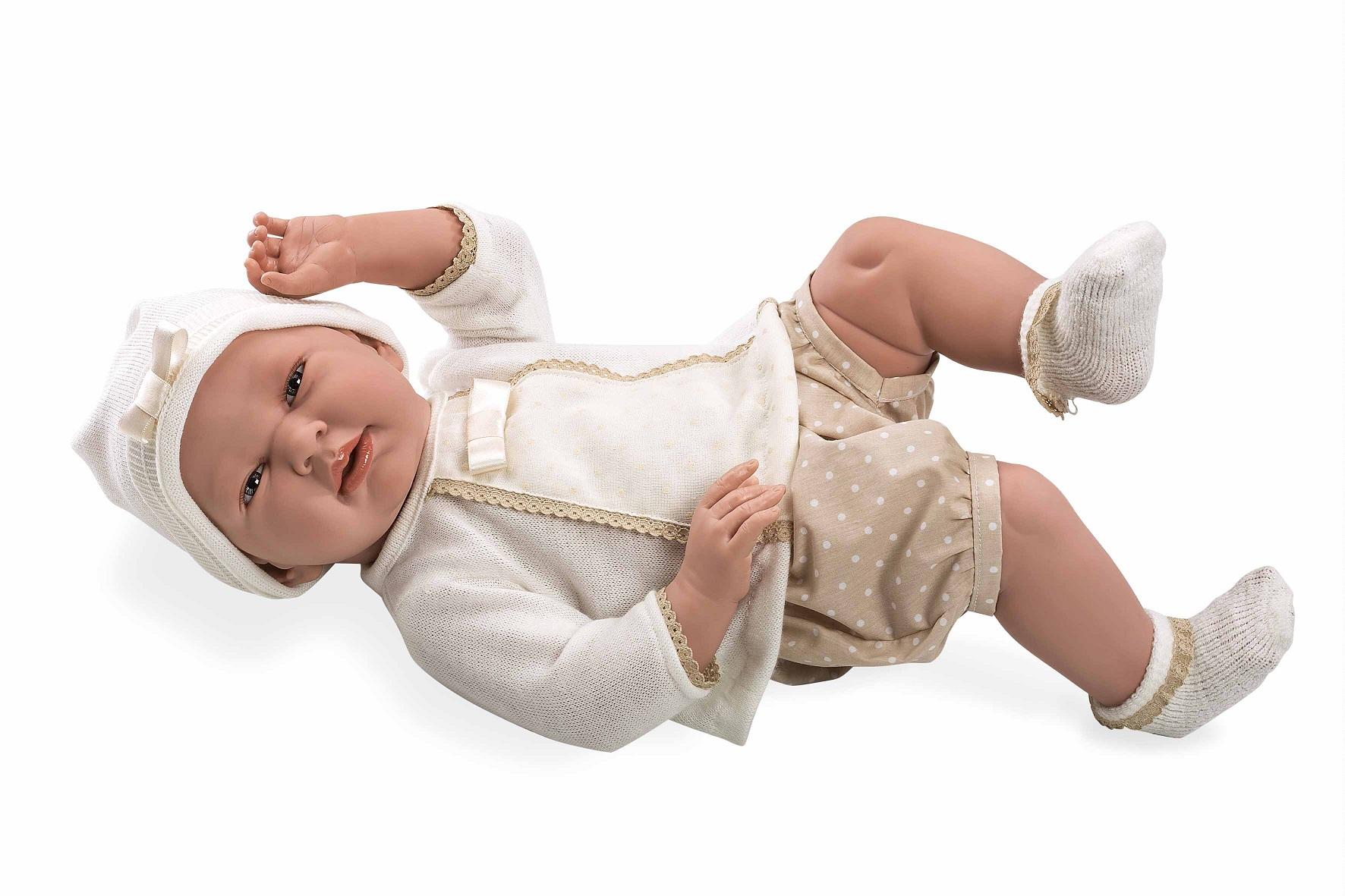 Купить Пупс виниловый в бежевой одежде - Elegance 52 см, Arias