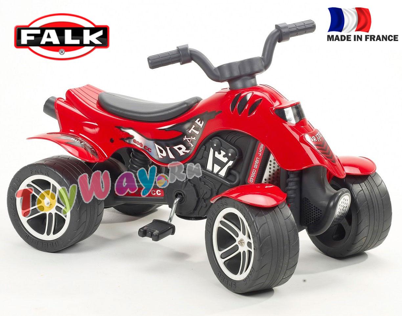 Педальная машина - Квадроцикл Pirate, красный, 84 см