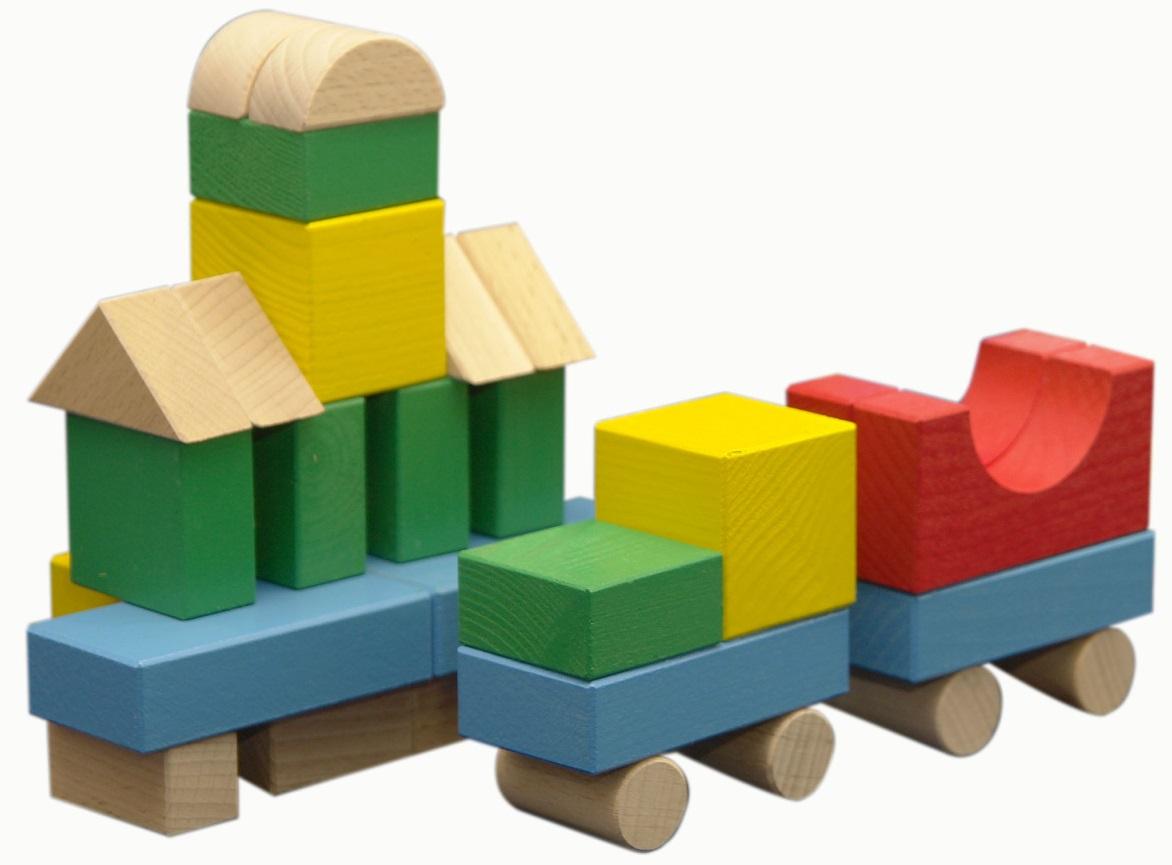 Конструктор деревянный цветной, 30 деталейКубики<br>Конструктор деревянный цветной, 30 деталей<br>