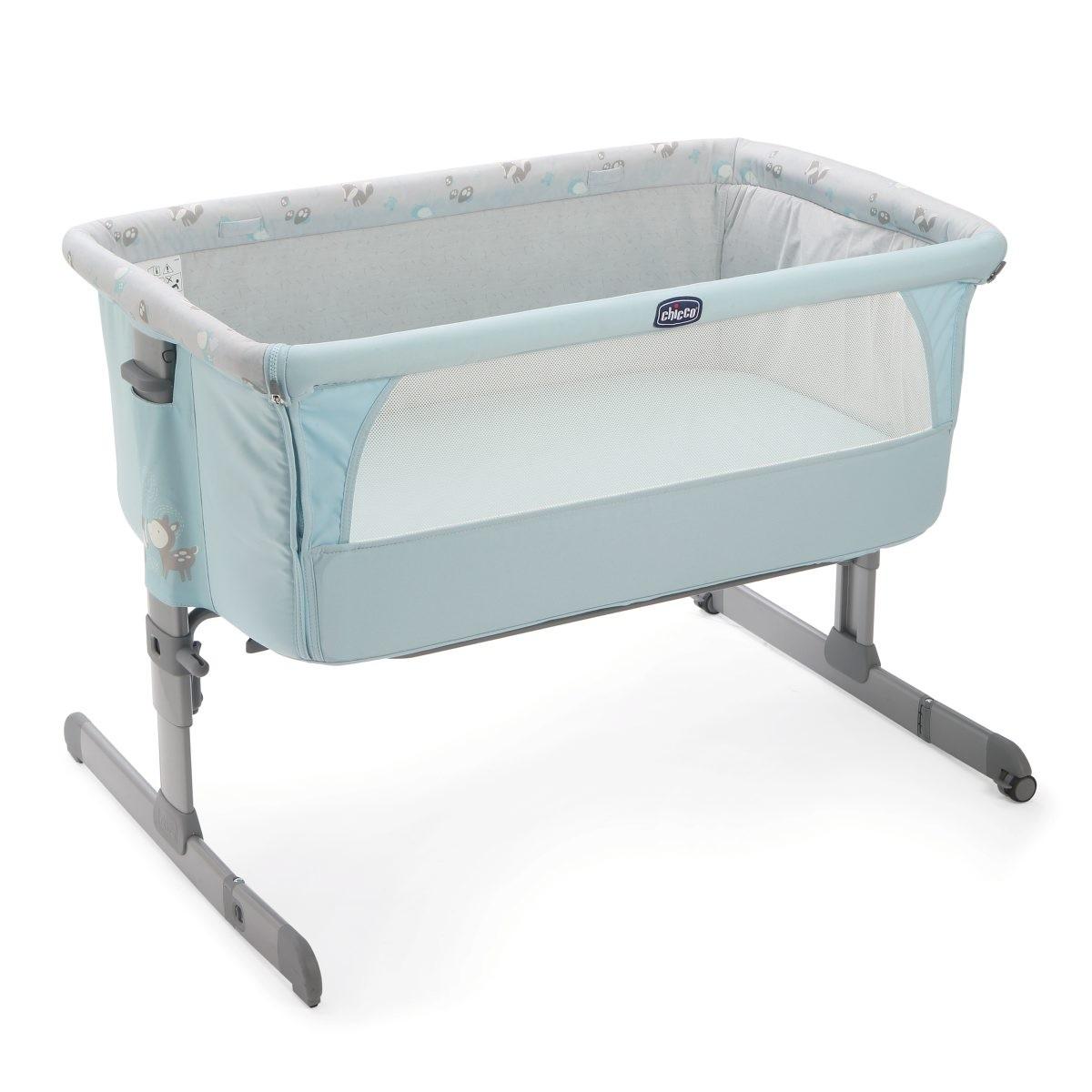 Кроватка Next2Me, SkyДетские кровати и мягкая мебель<br>Кроватка Next2Me, Sky<br>