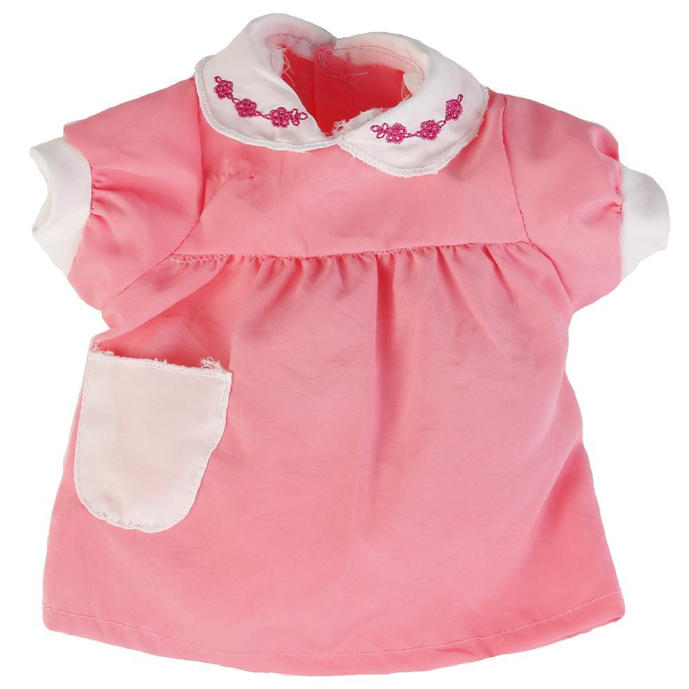 Купить со скидкой Одежда для кукол Карапуз™ 40-42 см - Розовое платье с кармашком