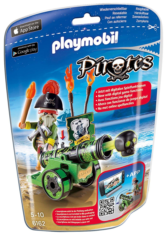 Игровой набор из серии Пираты  Зеленая интерактивная пушка с капитаном пиратов - Конструкторы Playmobil, артикул: 159049
