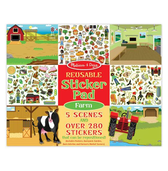 Купить Набор стикеров с фоном из серии Творчество – Ферма, Melissa&Doug