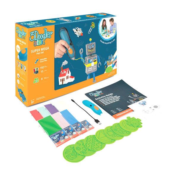 3Д Ручка 3doodler Start Мега, большой подарочный набор Limited, 3DS-MEGA-E-R-17) - Детский 3D принтер QIXELS, артикул: 173907