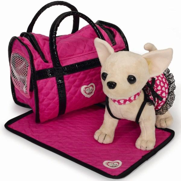 Плюшевая собачка Чихуахуа в светящемся платье - Chi Chi Love - cобачки в сумочке, артикул: 13804