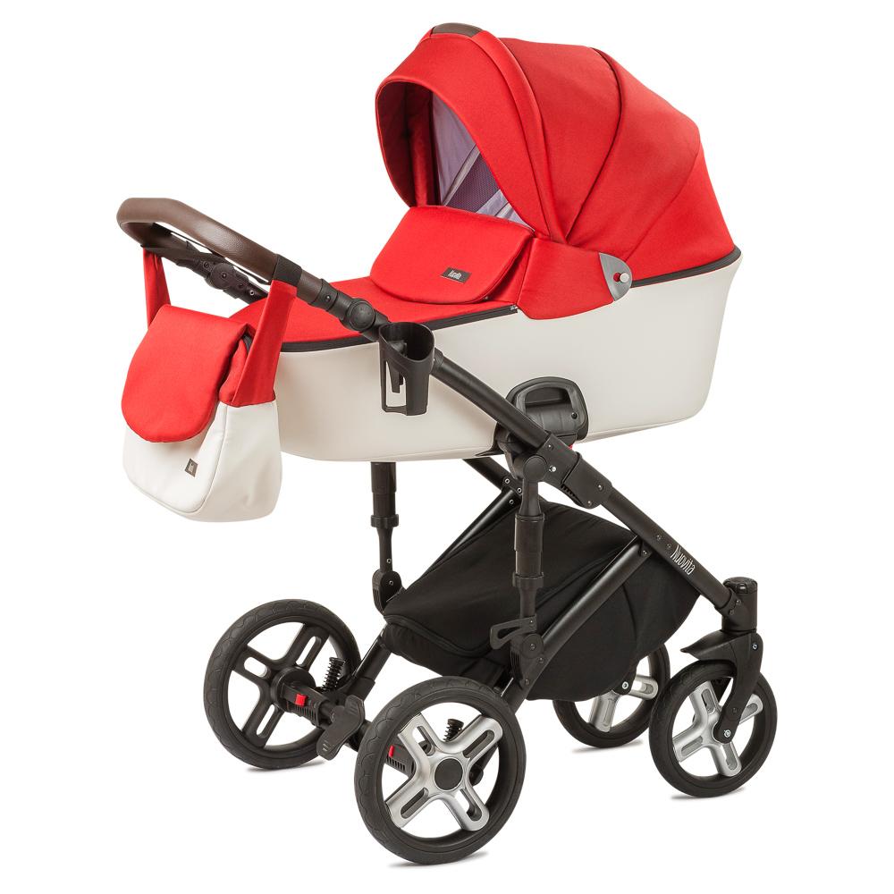 Купить Детская коляска Nuovita Carro Sport 2 в 1 Scarlatto цвет bianco/алый-белый