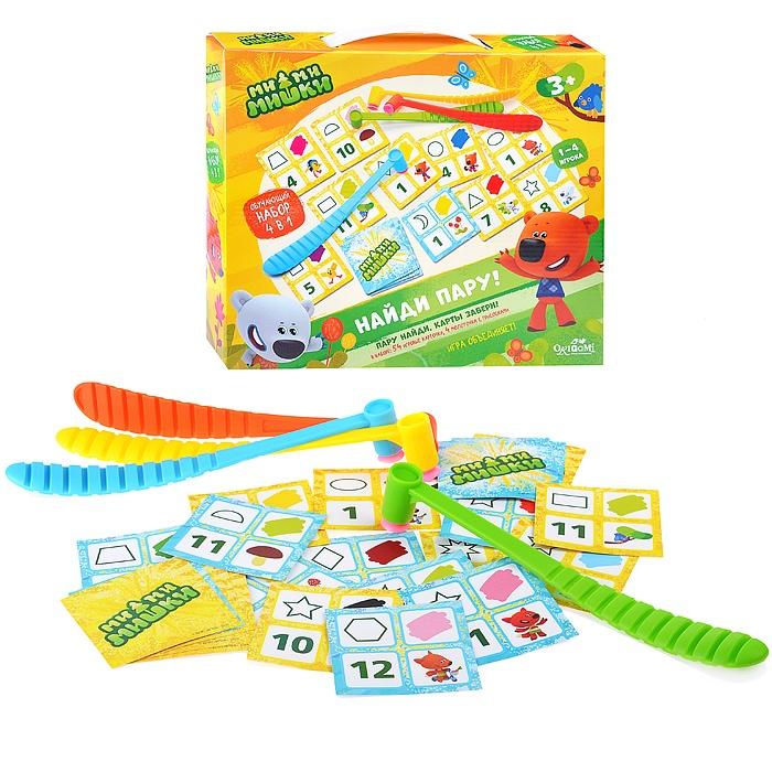 Купить Настольная игра настольная 4 в 1 – Ми-Ми-Мишки. Найди пару, 58 предметов, Origami