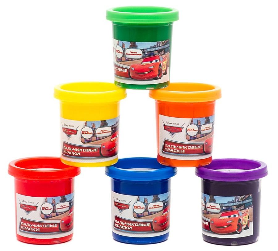 Пальчиковые краски Disney Тачки, 6 цветовCARS 3 (Игрушки Тачки 3)<br>Пальчиковые краски Disney Тачки, 6 цветов<br>