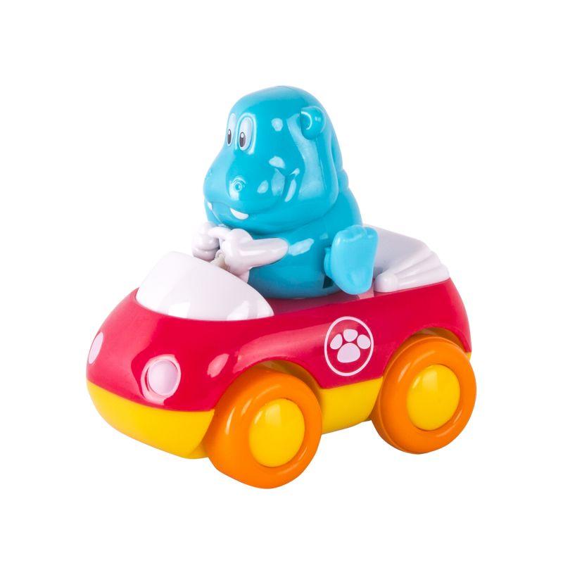 Машинка - Зверушки на колесиках - БегемотМашинки для малышей<br>Машинка - Зверушки на колесиках - Бегемот<br>