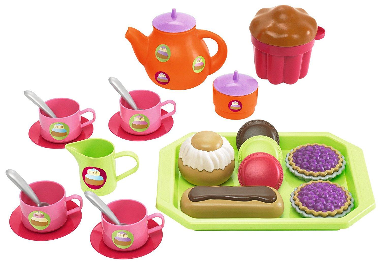 Игровой набор - чайный сервиз с пирожными, 33 предметаАксессуары и техника для детской кухни<br>Игровой набор - чайный сервиз с пирожными, 33 предмета<br>