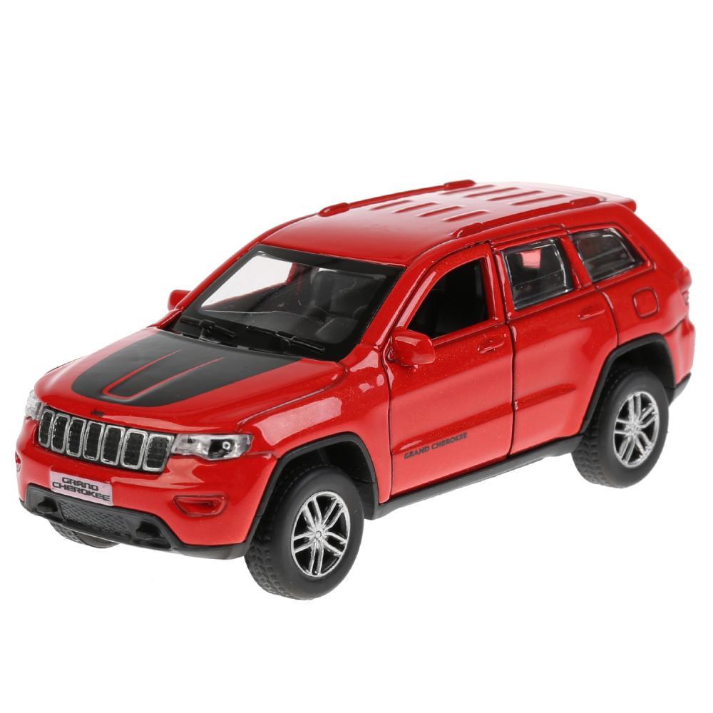 Купить Инерционный металлический Jeep Grand Cherokee, 12 см, красный, Технопарк