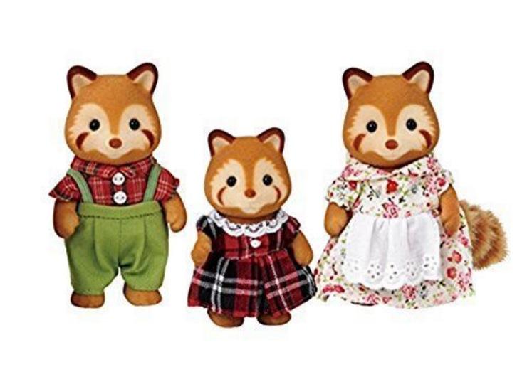 Набор Семья Красных панд из серии «Sylvanian Families», 3 фигуркиСемьи и малыши<br>Набор Семья Красных панд из серии «Sylvanian Families», 3 фигурки<br>