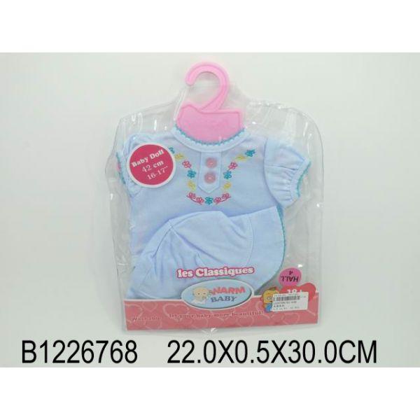 Комплект одежды для куклы, футболка и шляпа