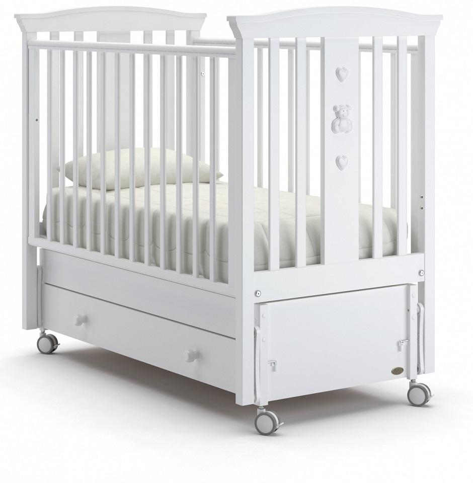 Купить Детская кровать Nuovita Fasto swing продольный, цвет - Bianco/Белый