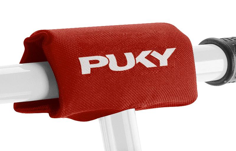 Защитная подушка на руль для беговелов и самокатов Puky LP 2 red, красная фото