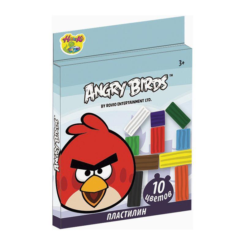 Пластилин Angry Birds, 10 цветов, 200 гAngry Birds<br>Пластилин Angry Birds, 10 цветов, 200 г<br>