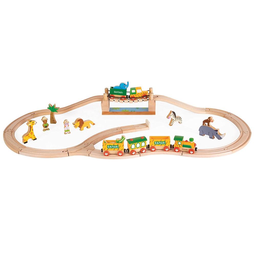 Игровой набор Сафари, 12 игрушек и поездДетская железная дорога<br>Игровой набор Сафари, 12 игрушек и поезд<br>