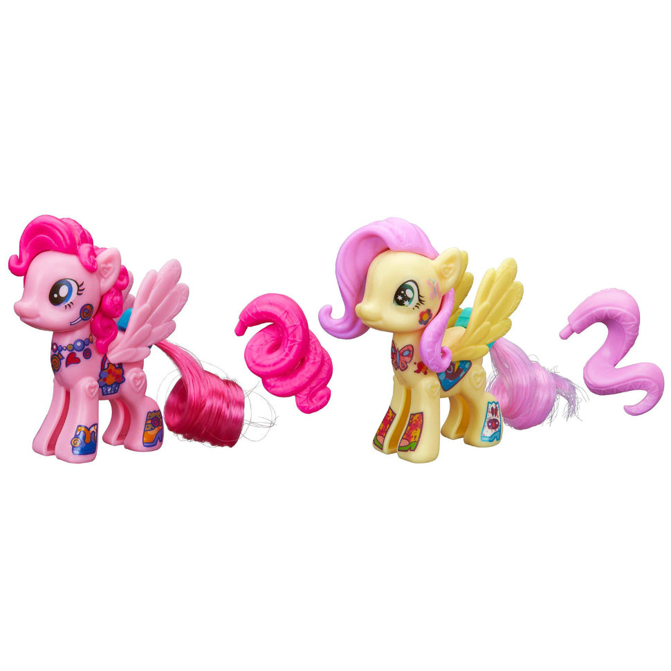 Купить Поп-конструктор Стильная пони из серии My Little Pony с фигурками Пинки Пай и Флаттершай, Hasbro