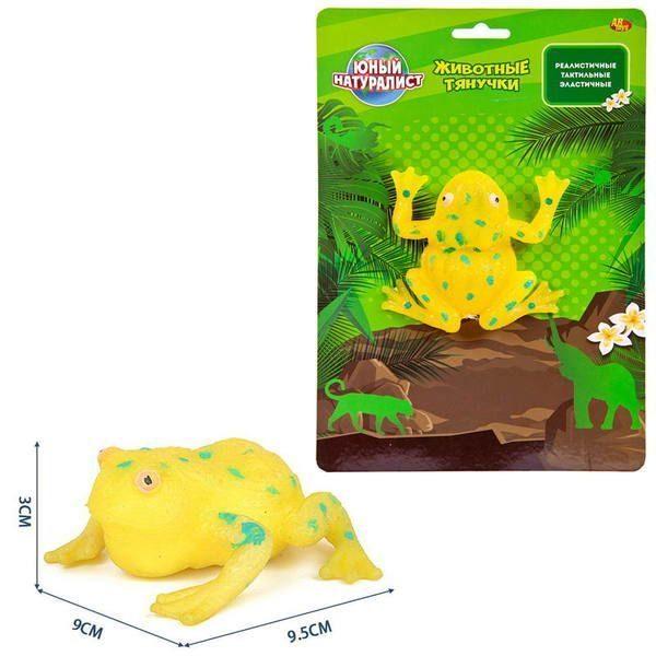 Животные-тянучки из серии Юный натуралист – Лягушка желтая, термопластичная резина фото