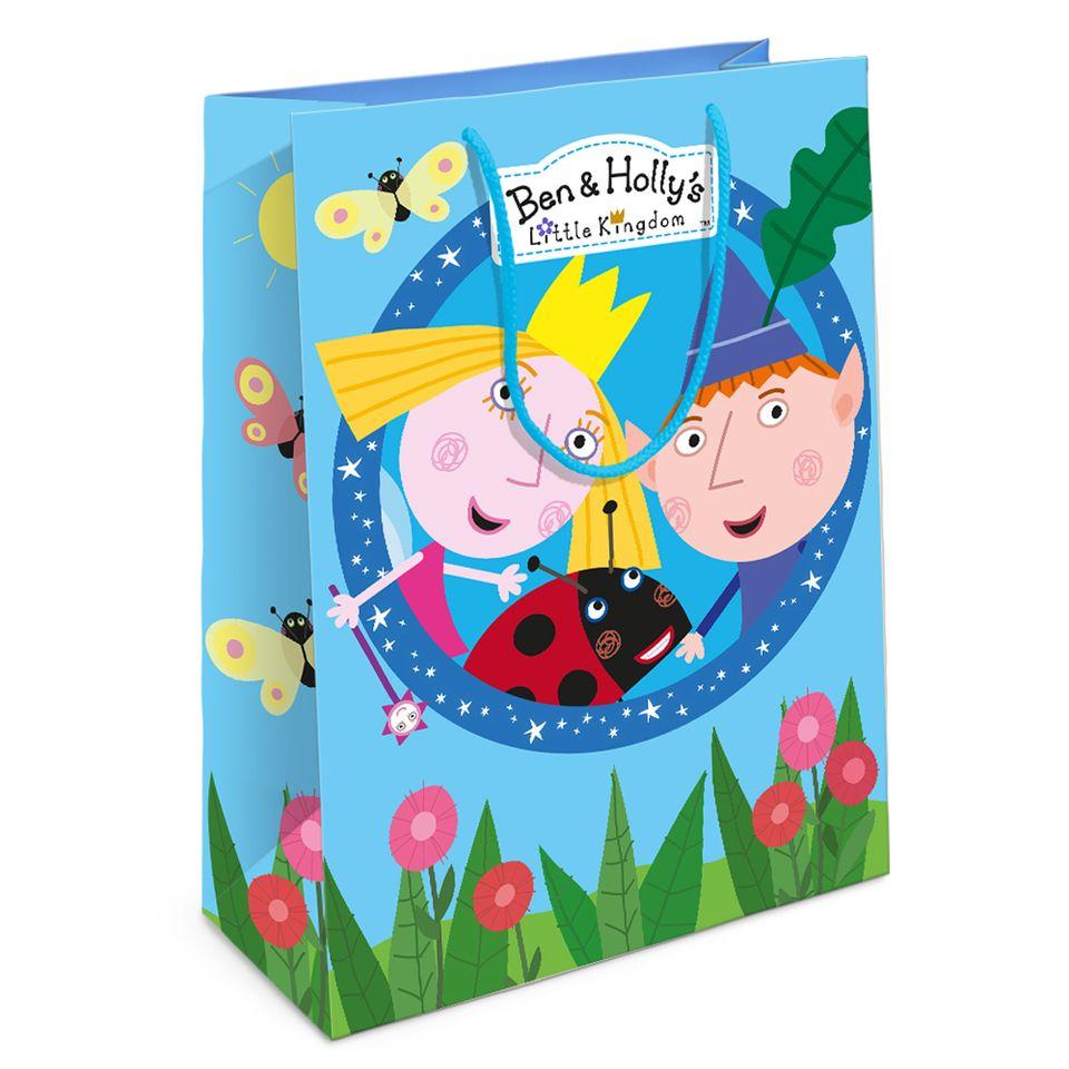 Купить Пакет подарочный из серии Бен и Холли, 35 х 25 х 9 см., Росмэн