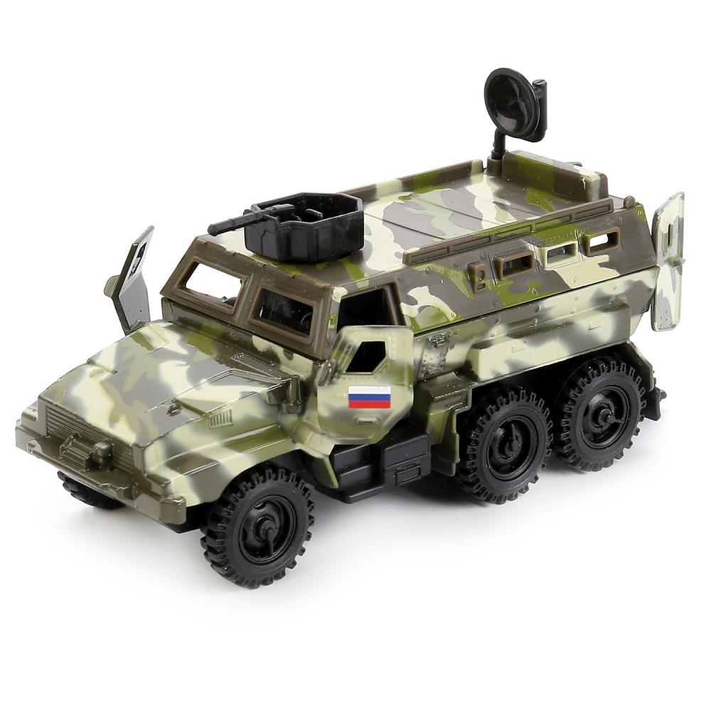 Купить Металлический броневик 12 см., открываются двери и багажник, вращается пушка, инерционный -WB), Технопарк