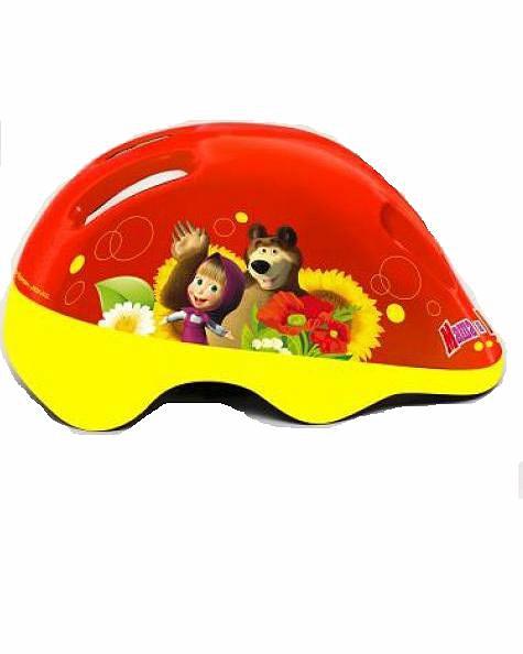 Shantou Защитный шлем для катания «Маша и медведь», размер М