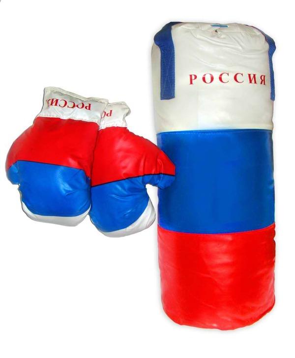 Большой боксерский набор  РФ - Детские боксерские наборы, артикул: 169524