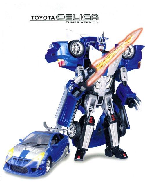 Робот-трансформер на батарейках Toyota Celica, свет, звук, 1:18Игрушки трансформеры<br>Робот-трансформер на батарейках Toyota Celica, свет, звук, 1:18<br>