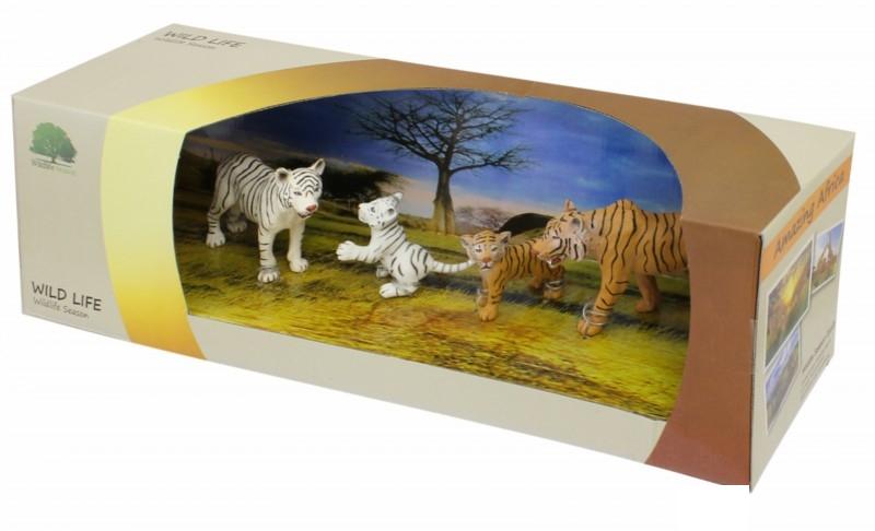 Набор фигурок «Семейство тигров»Дикая природа (Wildlife)<br>Набор фигурок «Семейство тигров»<br>