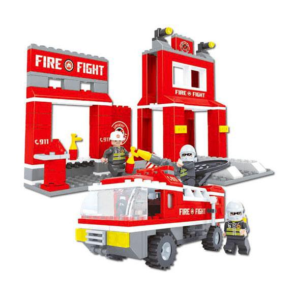 Конструктор Пожарная бригада. Пожарная станция, 301 деталь,Конструкторы других производителей<br>Конструктор Пожарная бригада. Пожарная станция, 301 деталь,<br>
