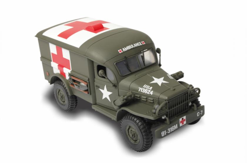 Коллекционная модель - грузовик скорой помощи США,  1:32Военная техника<br>Коллекционная модель - грузовик скорой помощи США,  1:32<br>