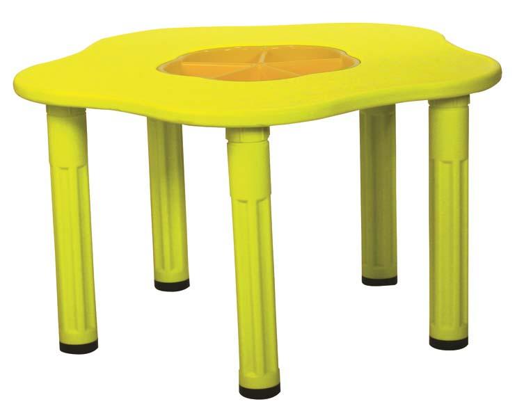 Купить Детский столик с системой хранения мелочей - Сэнди, желтый, King Kids