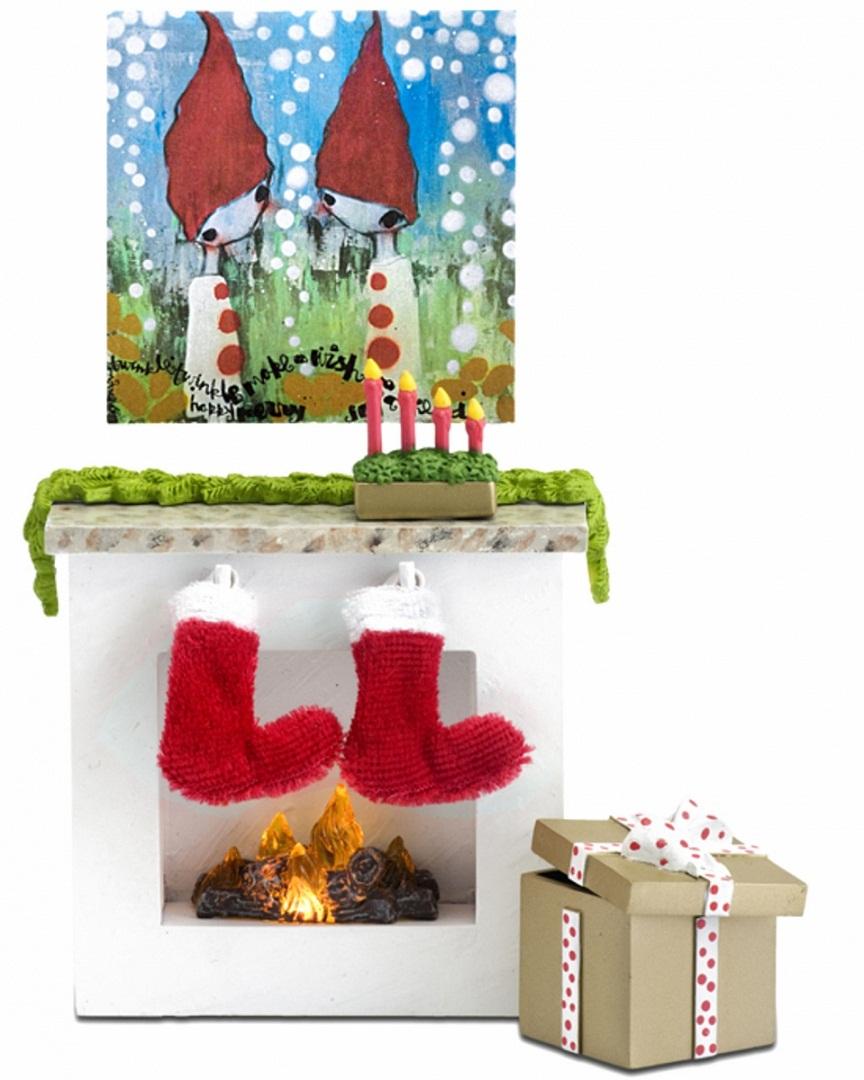 Мебель для домика - Камин с аксессуарамиКукольные домики<br>Мебель для домика - Камин с аксессуарами<br>