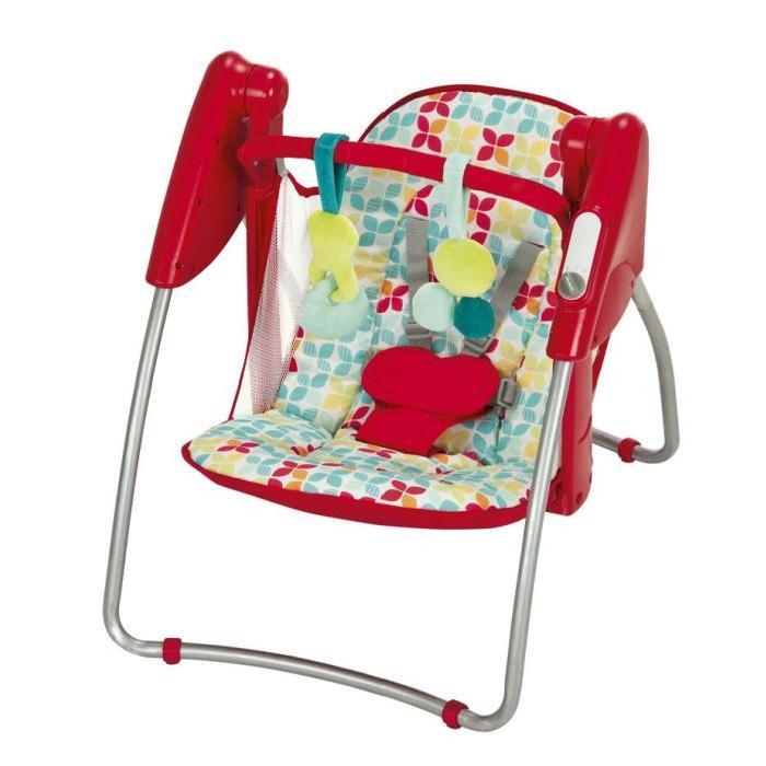 Складное кресло-качалка Happy, красноеДетские шезлонги<br>Складное кресло-качалка Happy, красное<br>