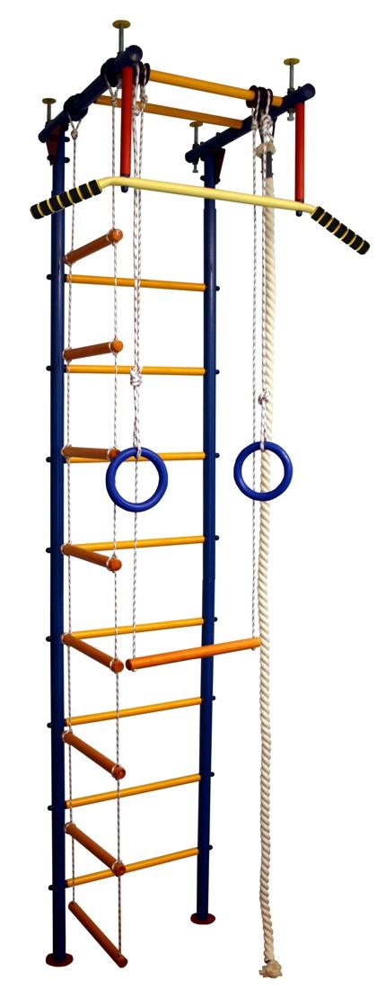 Купить Детский спортивный комплекс Юнга 1.1, желтые перекладины с ПВХ покрытием, Вертикаль