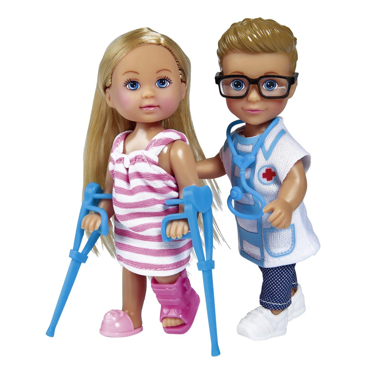 Купить Игровой набор На приеме у доктора с куклами Еви и Тимми, 12 см., Simba