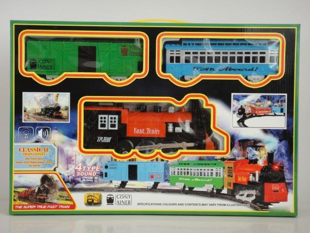 Железная дорога со световыми и звуковыми эффектами – Классический поездДетская железная дорога<br>Железная дорога со световыми и звуковыми эффектами – Классический поезд<br>