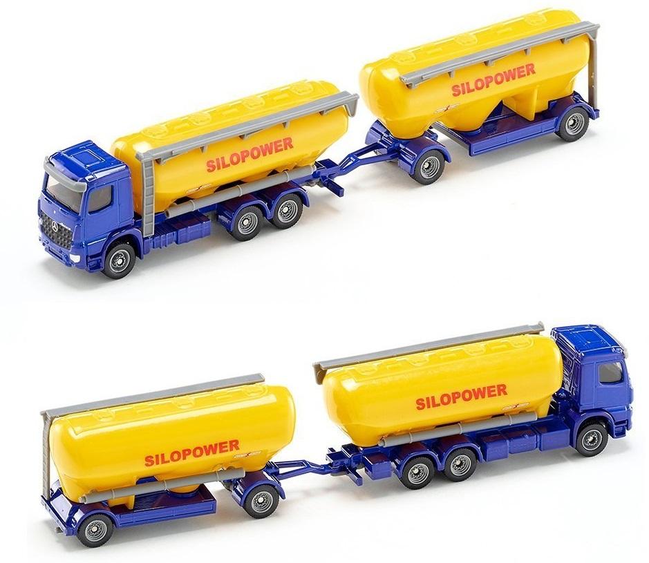 Купить Модель грузовика с прицепом для комбикорма, 1:87, Siku