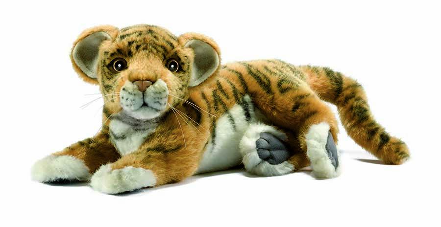 Тигренок лежащий, 26 смДикие животные<br>Тигренок лежащий, 26 см<br>