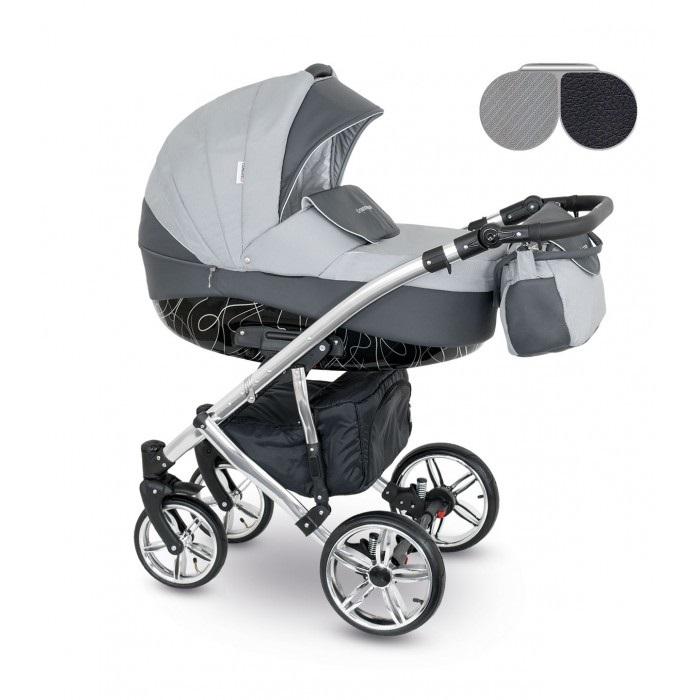 Детская коляска Camarelo Alicante 2 в 1, сераяДетские коляски 2 в 1<br>Детская коляска Camarelo Alicante 2 в 1, серая<br>