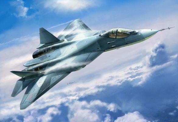 Звезда Модель для склеивания - Самолет Российский истребитель СУ - 50