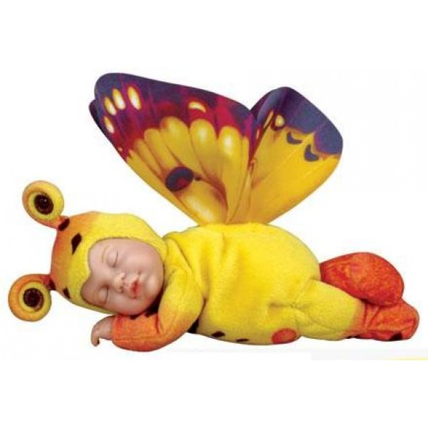 Кукла из серии «Детки-бабочки», желтые/оранжевые, 23 смКуклы детки ANNE GEDDES<br>Кукла из серии «Детки-бабочки», желтые/оранжевые, 23 см<br>