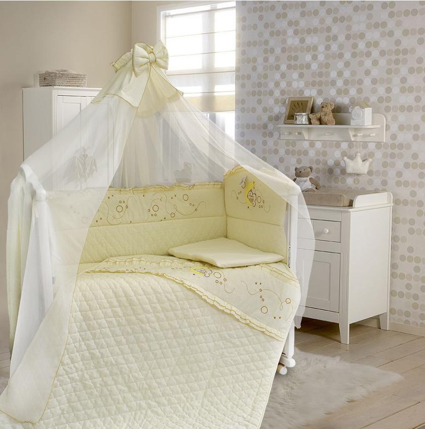 Комплект в кроватку – Соня, 6 предметов, бежевыйДетское постельное белье<br>Комплект в кроватку – Соня, 6 предметов, бежевый<br>