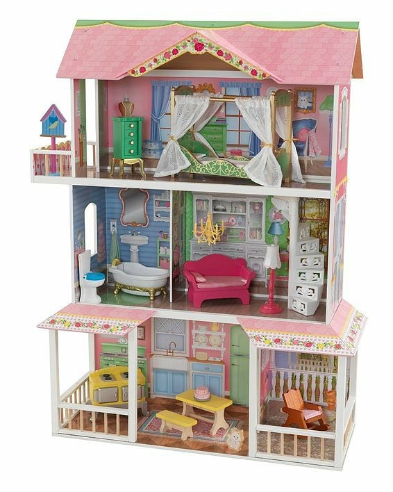 Деревянный дом для Барби Sweet Savannah - Карамельная саванна, с мебельюКукольные домики<br>Деревянный дом для Барби Sweet Savannah - Карамельная саванна, с мебелью<br>