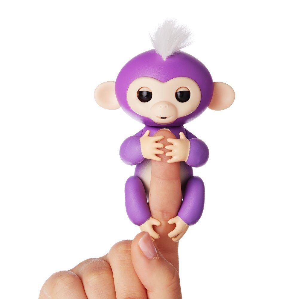 Купить Интерактивная ручная обезьянка Fingerlings WowWee – Миа, фиолетовая, 12 см