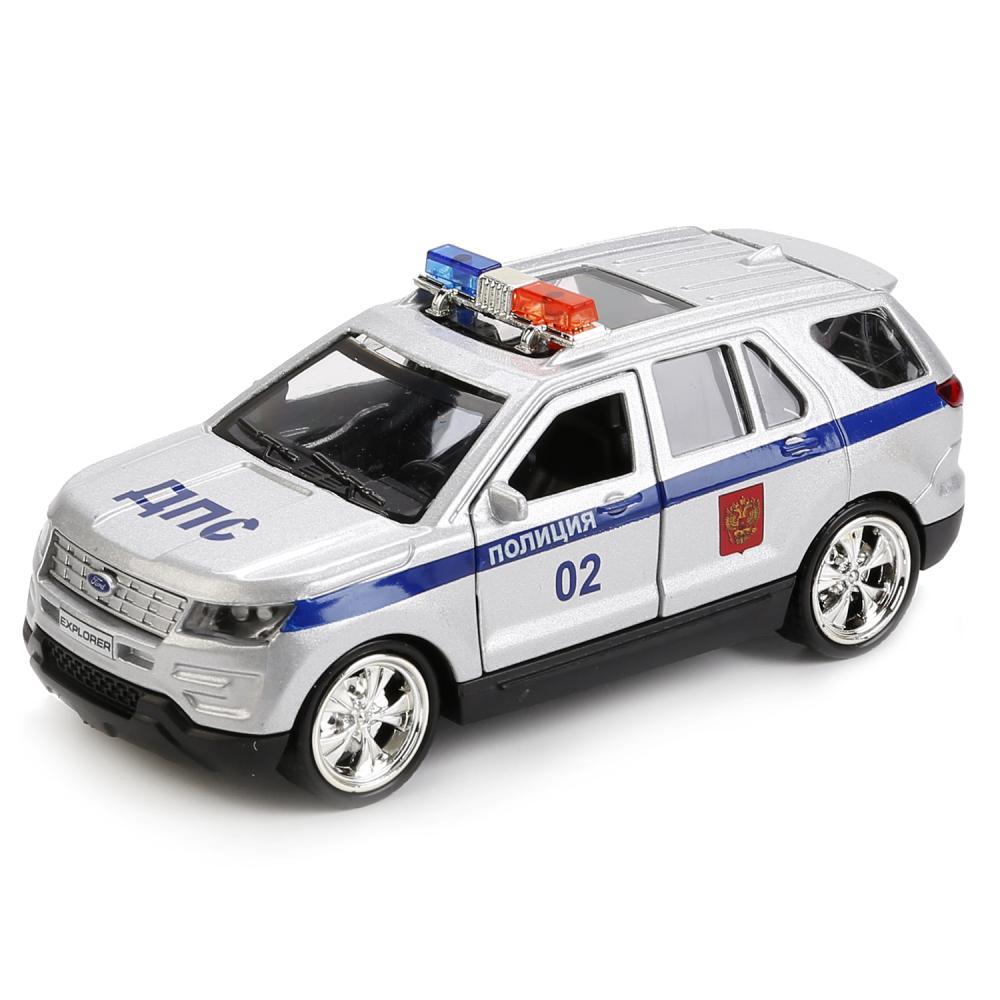 Машина металлическая Ford Explorer Полиция, 12 см, открываются двери, инерционная, Технопарк  - купить со скидкой