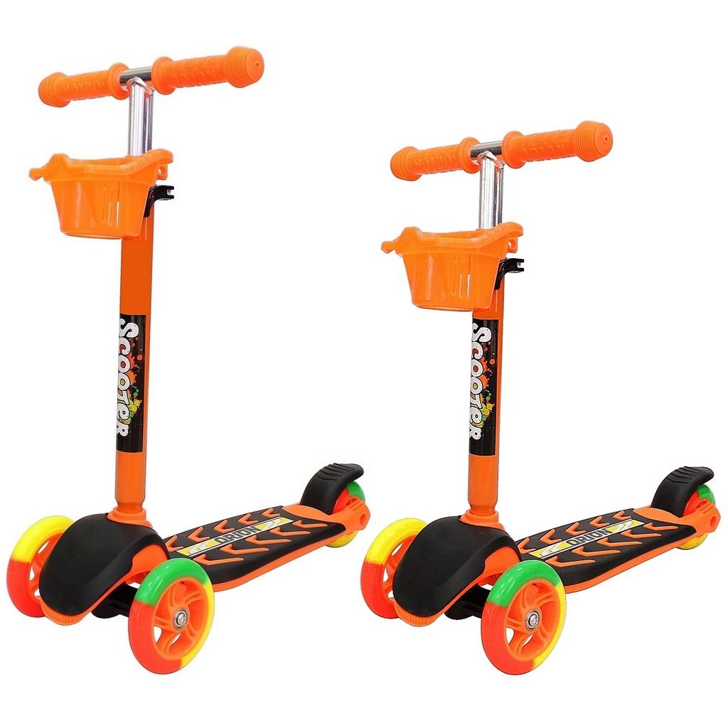 Купить Самокат 3-колесный Midi Orion 164в5, цвет – оранжевый