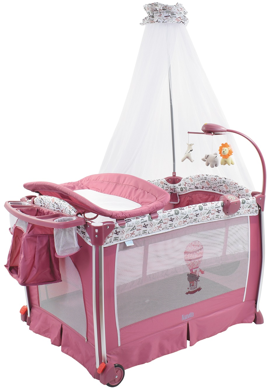 Купить Детская кровать-манеж Nuovita Fortezza, цвет - Mauve / Сиреневый